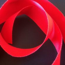 Red Milliner's Petersham Ribbon in 2 Widths